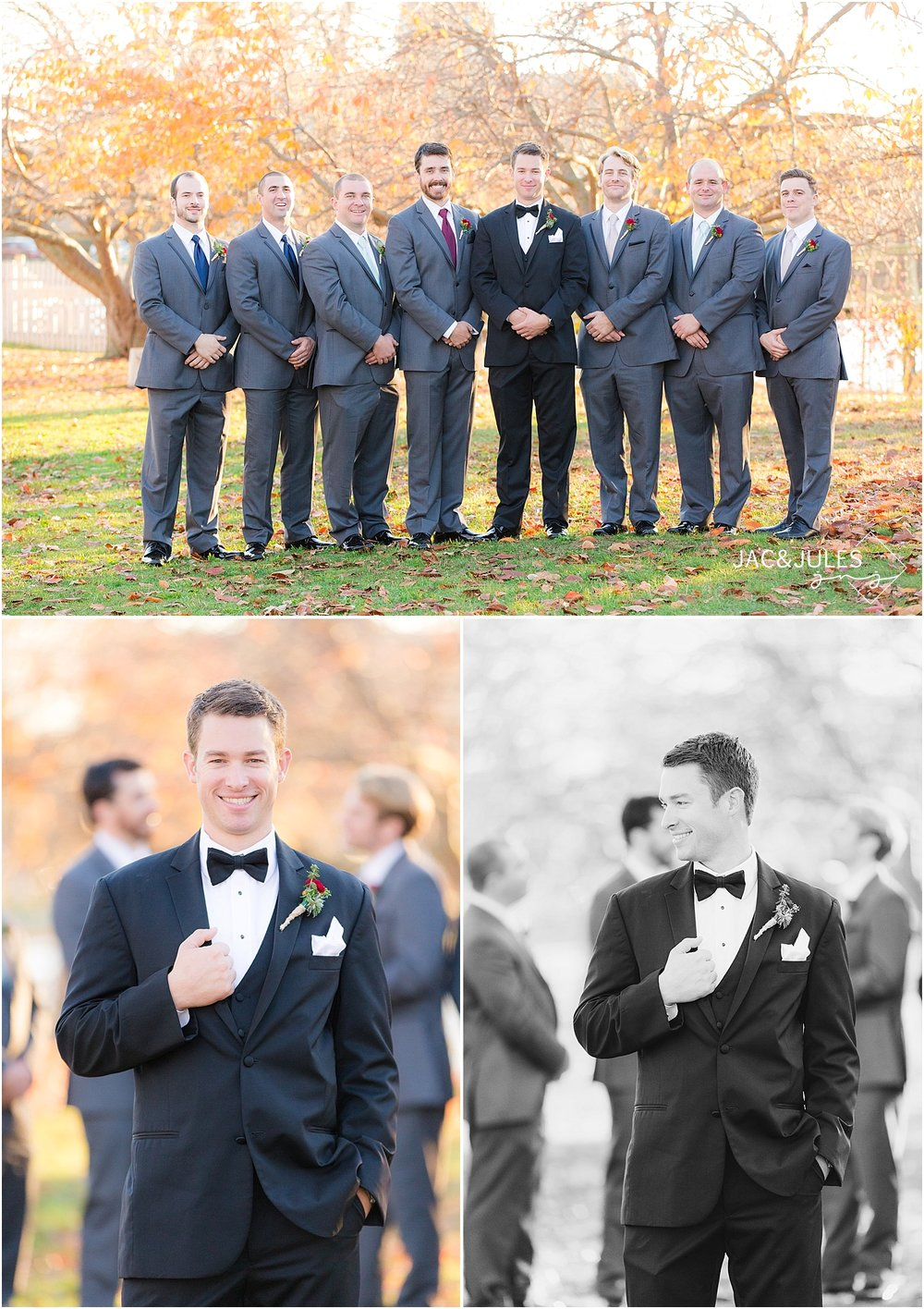 jacnjules photograph fall wedding at Divine Park in Spring Lake, NJ