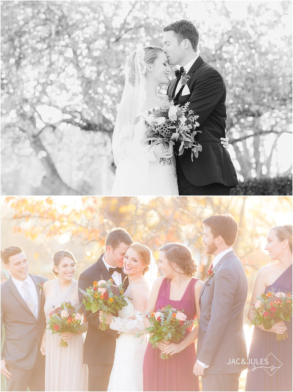 jacnjules photograph fall wedding at St. Catherine's in Spring Lake, NJ