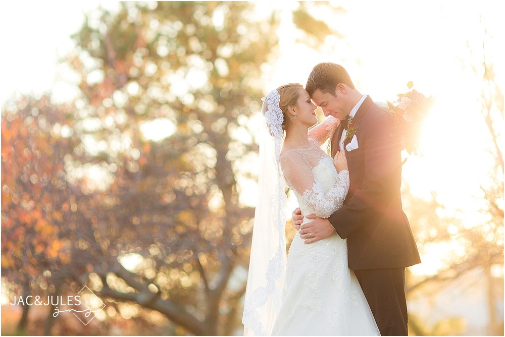jacnjules photographs fall wedding at Divine Park in Spring Lake, NJ