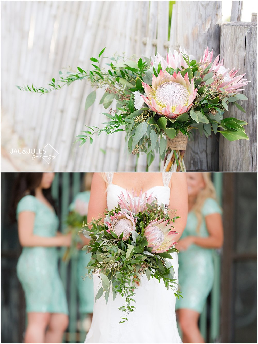 beautiful wedding bouquet by Narcissus Florals in Toms River NJ