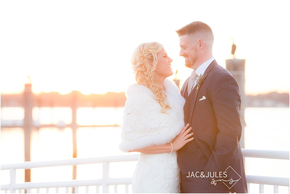 jacnjules photographs wedding at sunset in Belmar NJ
