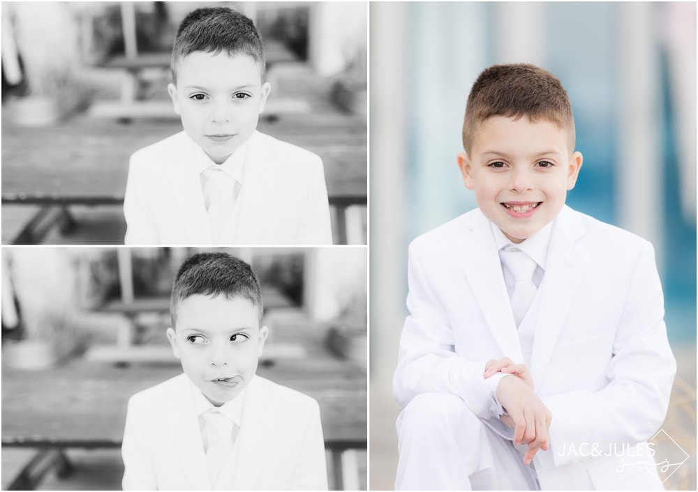 First Holy Communion photos on the boardwalk in Asbury Park, NJ.
