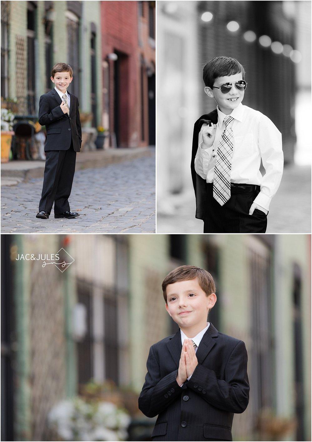 jacnjules photograph communion boy in Hoboken NJ