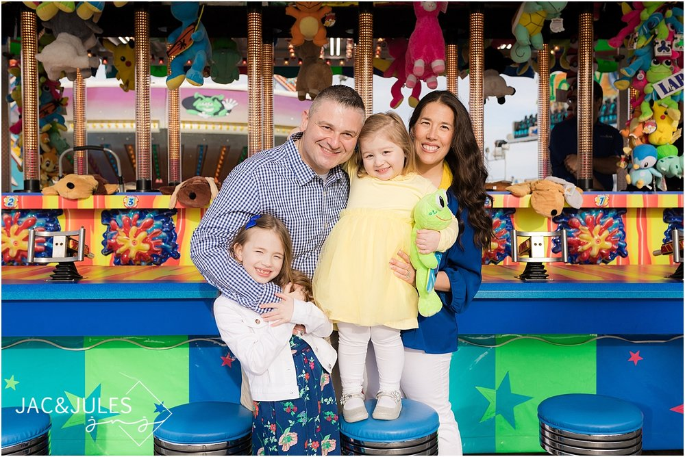 jacnjules photograph fun family portraits on Point Pleasant boardwalk at the Jersey Shore