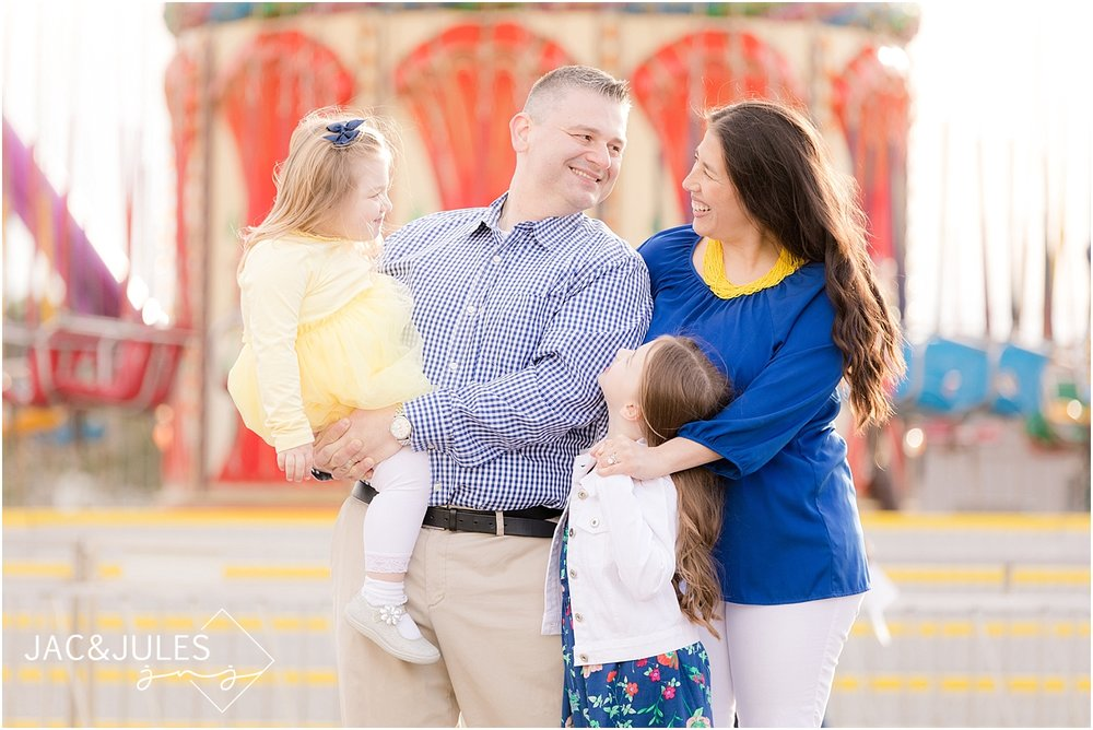 jacnjules photograph modern family portraits on Point Pleasant boardwalk at the Jersey Shore