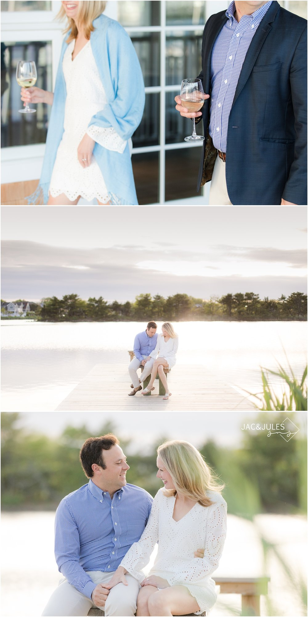 Engagement pictures on the lake in Bay Head, NJ