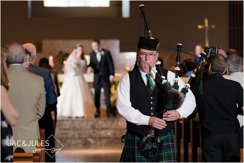 bagpiper at wedding ceremony in manasquan nj