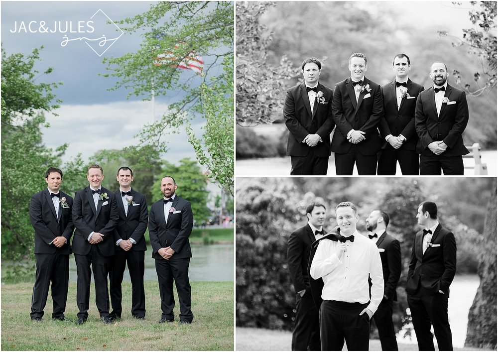 groomsmen photo at divine park in spring lake nj