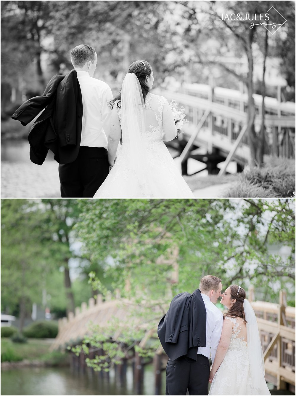 wedding photos at divine park in spring lake nj