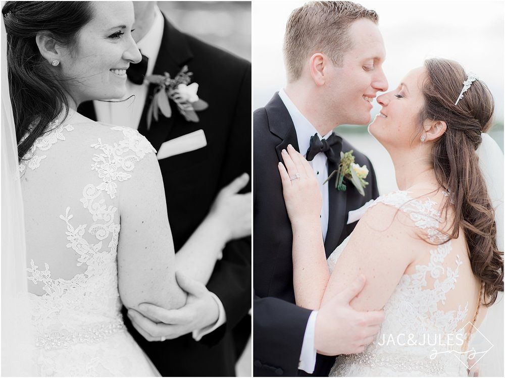 romantic wedding photos at clarks landing in point pleasant nj