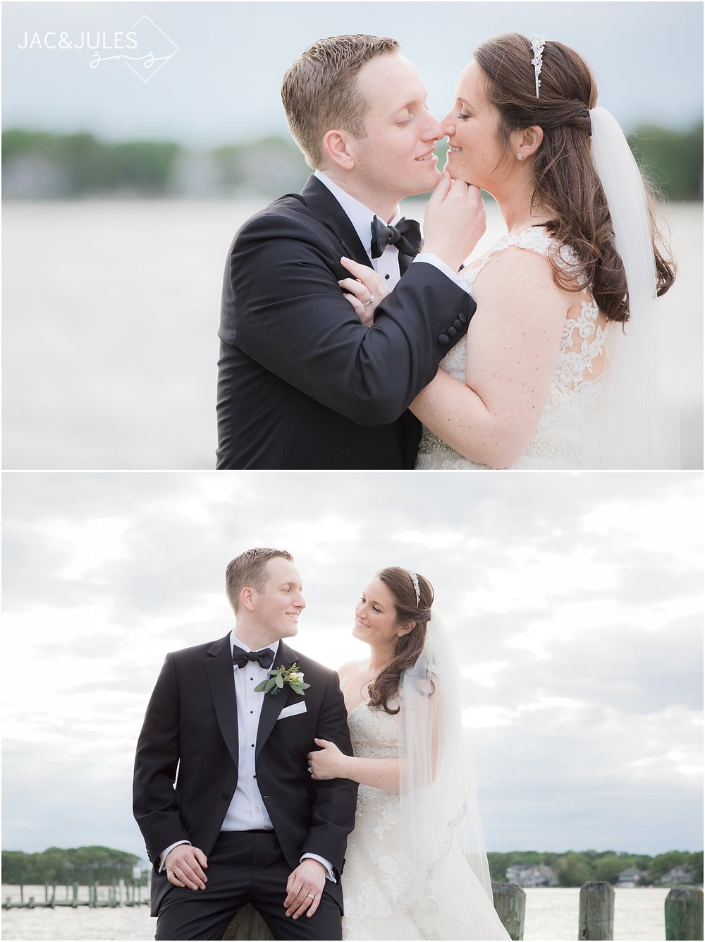 natural light wedding photos at clarks landing in point pleasant nj