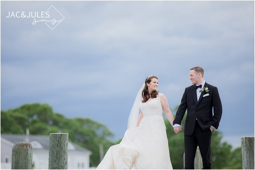natural light wedding photo at clarks landing in point pleasant nj