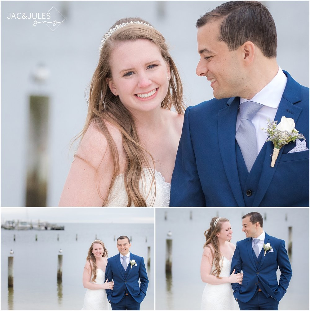 Just married photos at Brant Beach Yacht Club in Beach Haven, NJ.