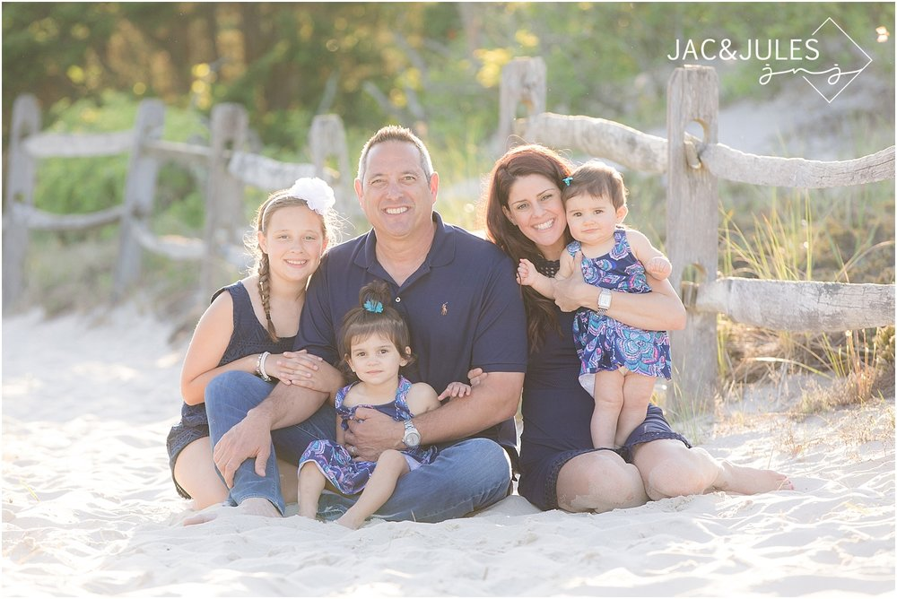 natural light family beach portrait at the jersey shore