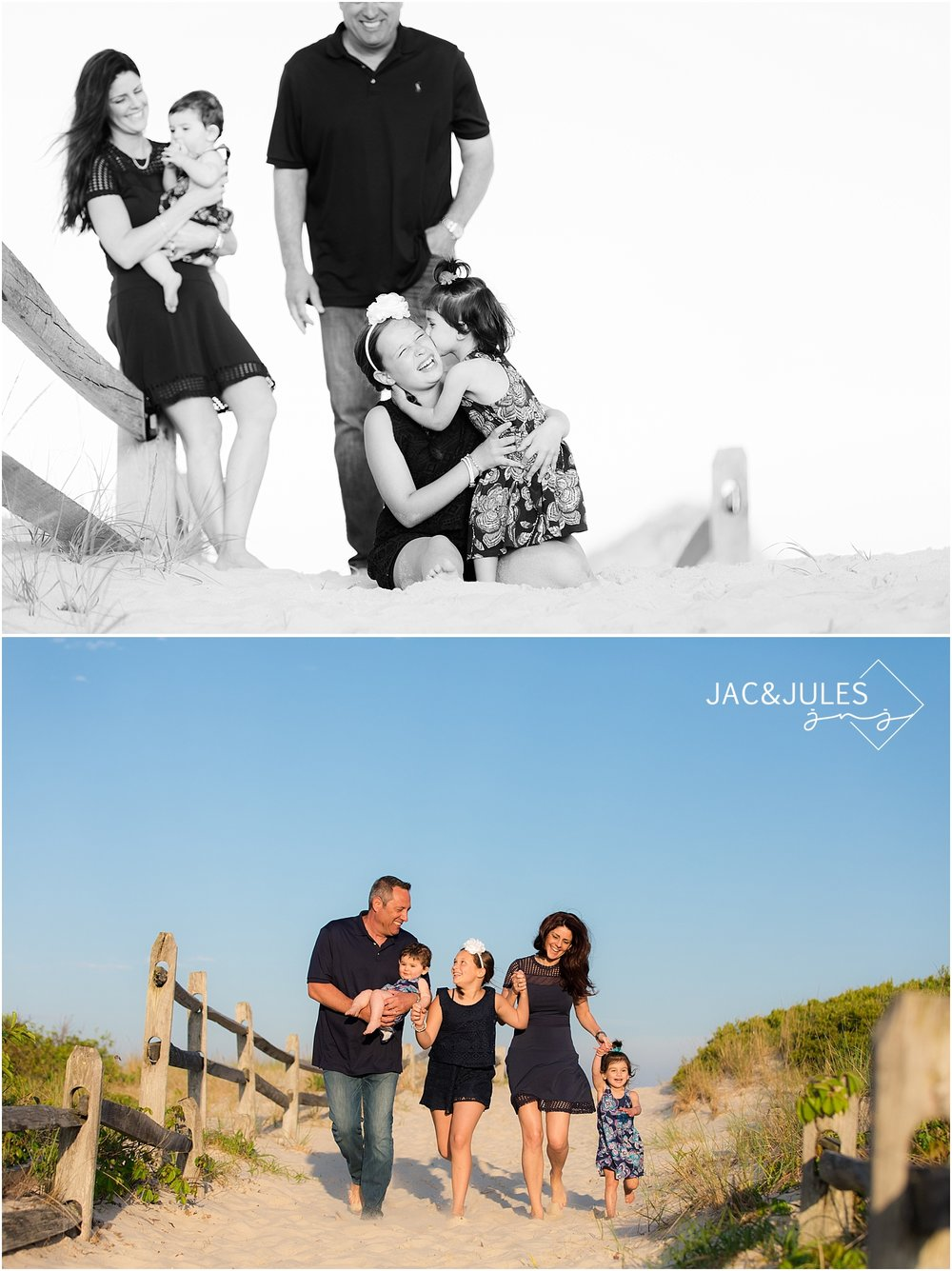 candid family photography at the beach in seaside nj