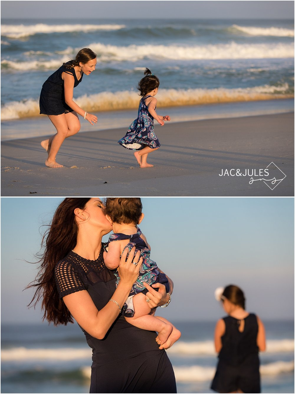 candid family photography in island beach state park