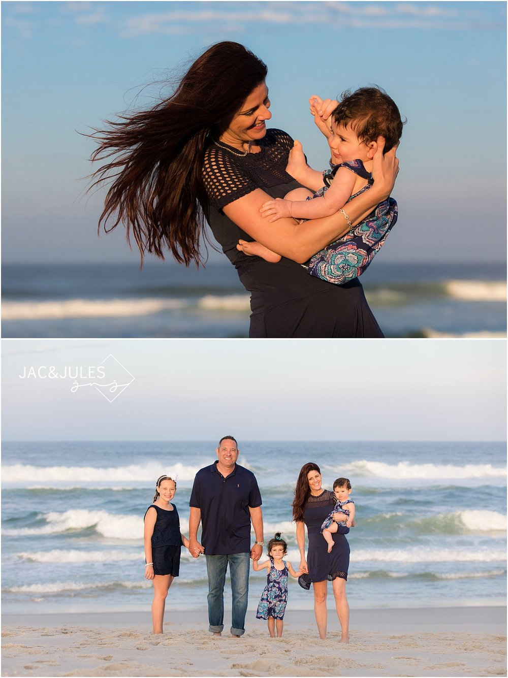 fun family photography at the jersey shore