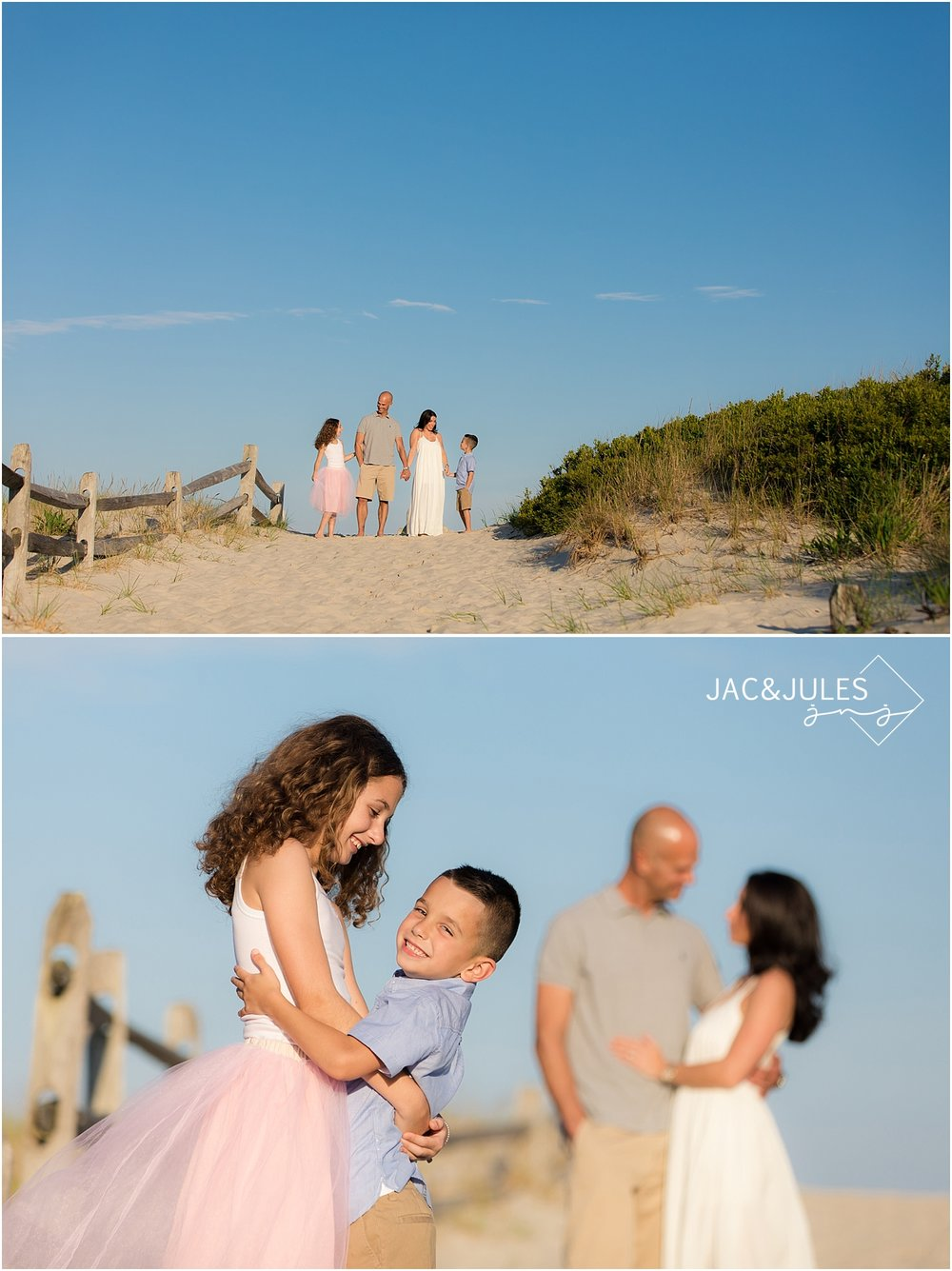 colorful family beach photos in seaside NJ