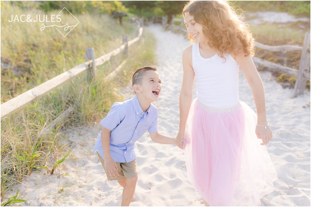 candid child photography on the beach in seaside NJ