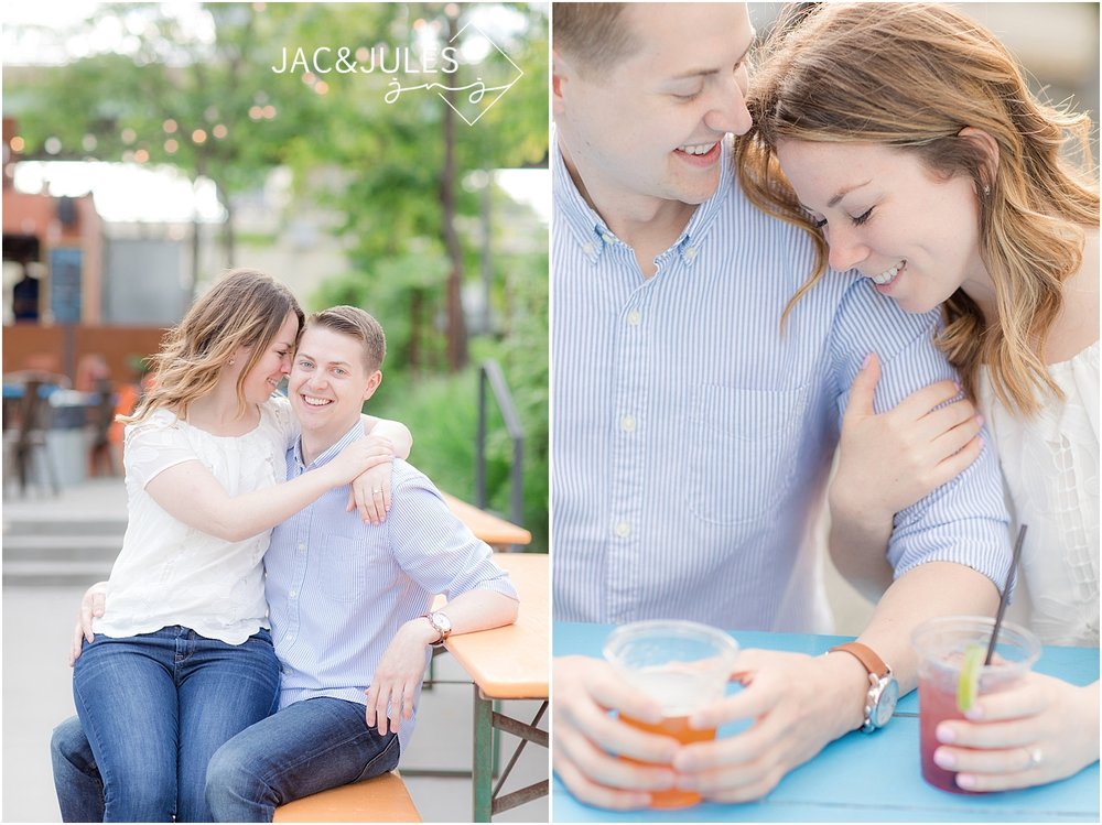 fun engagement photos at la peg in philly