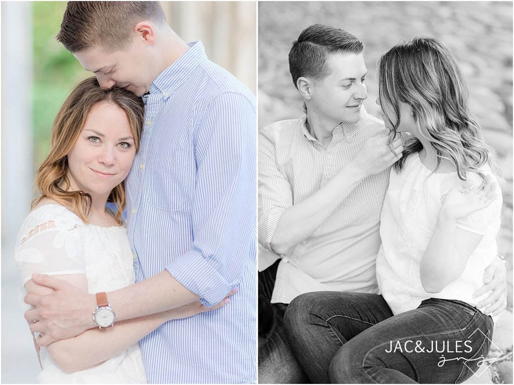 romantic engagement photos in washington square park