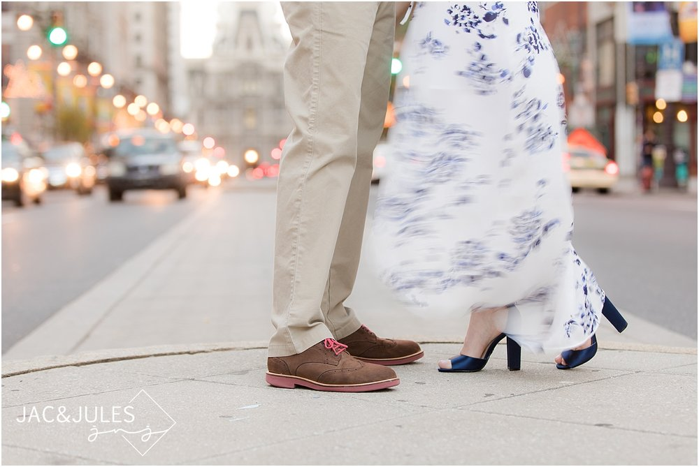 engagement photos in the city