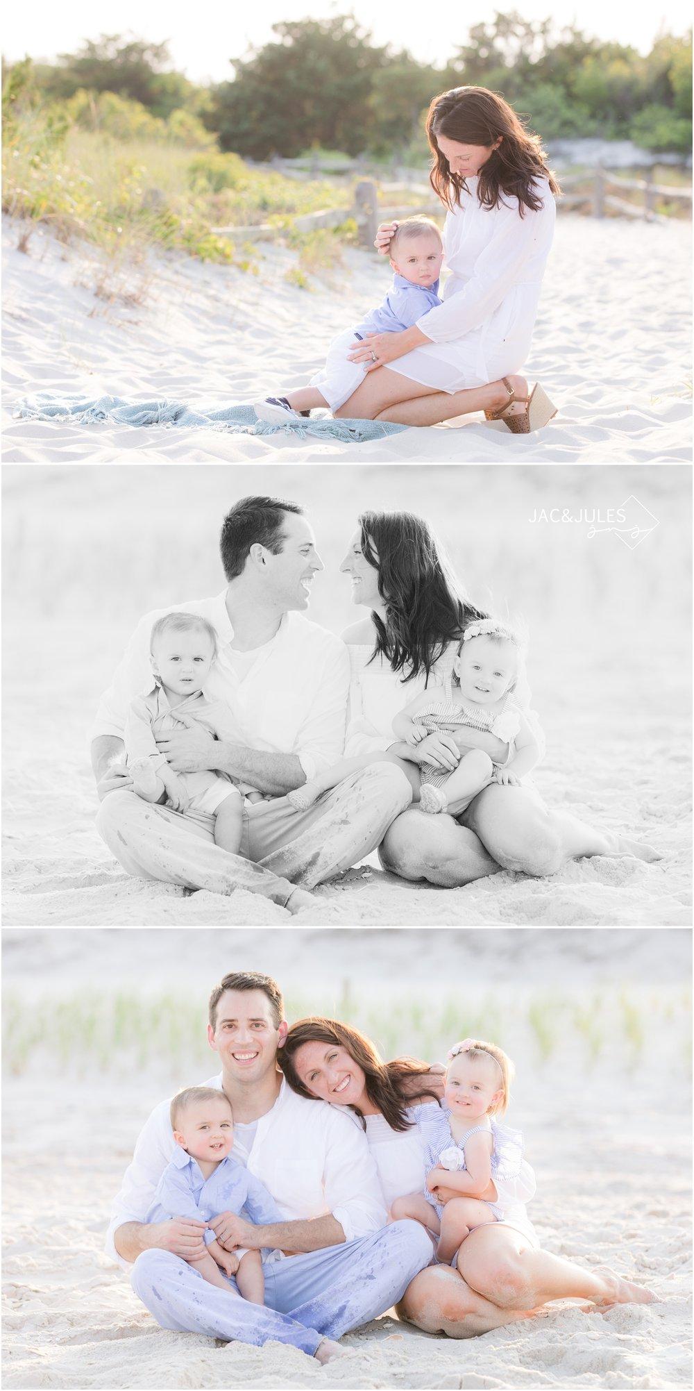 Family photos on the beach in Seaside Park, NJ.