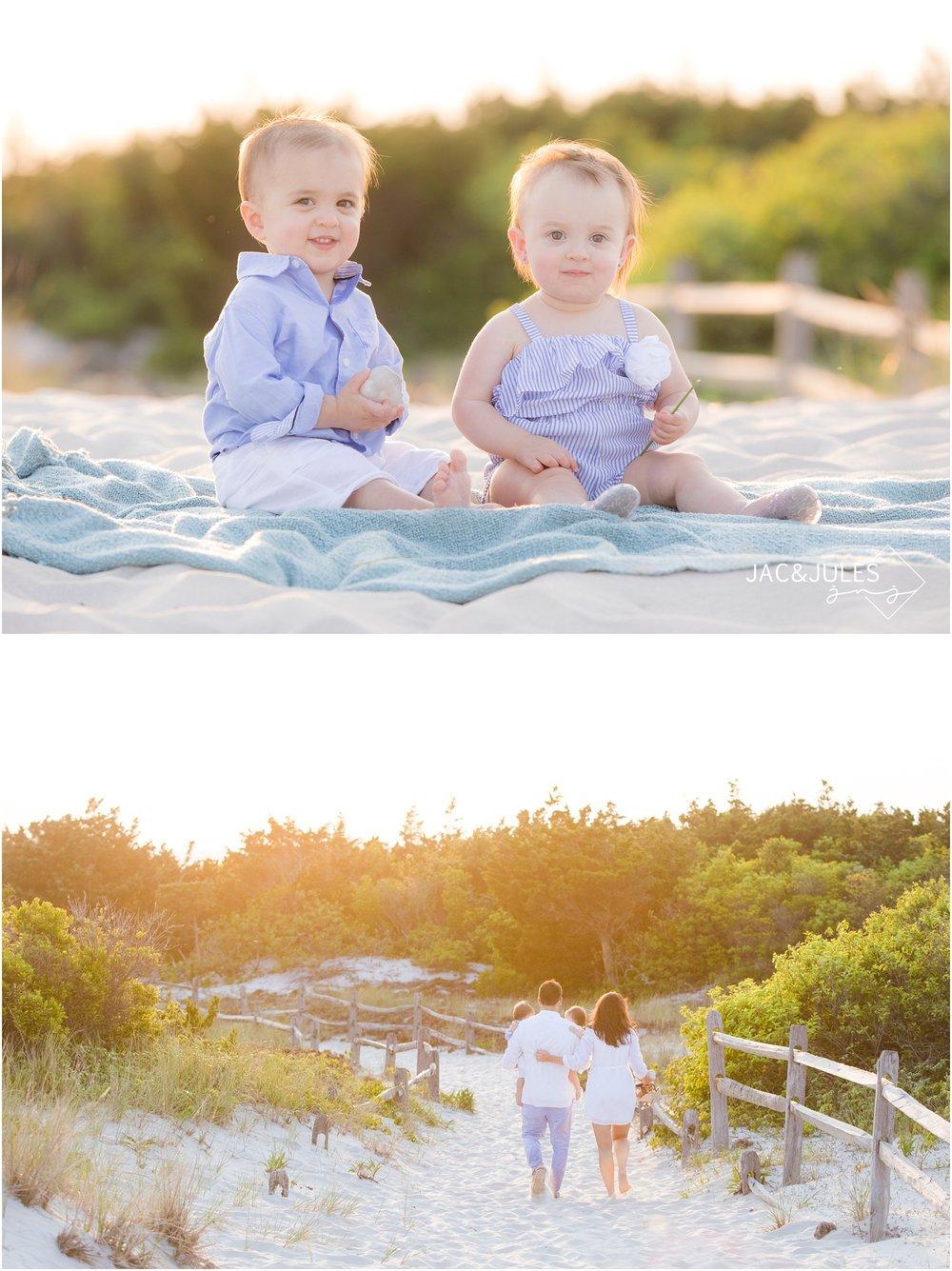 Twins photos on the beach in Seaside Park, NJ.