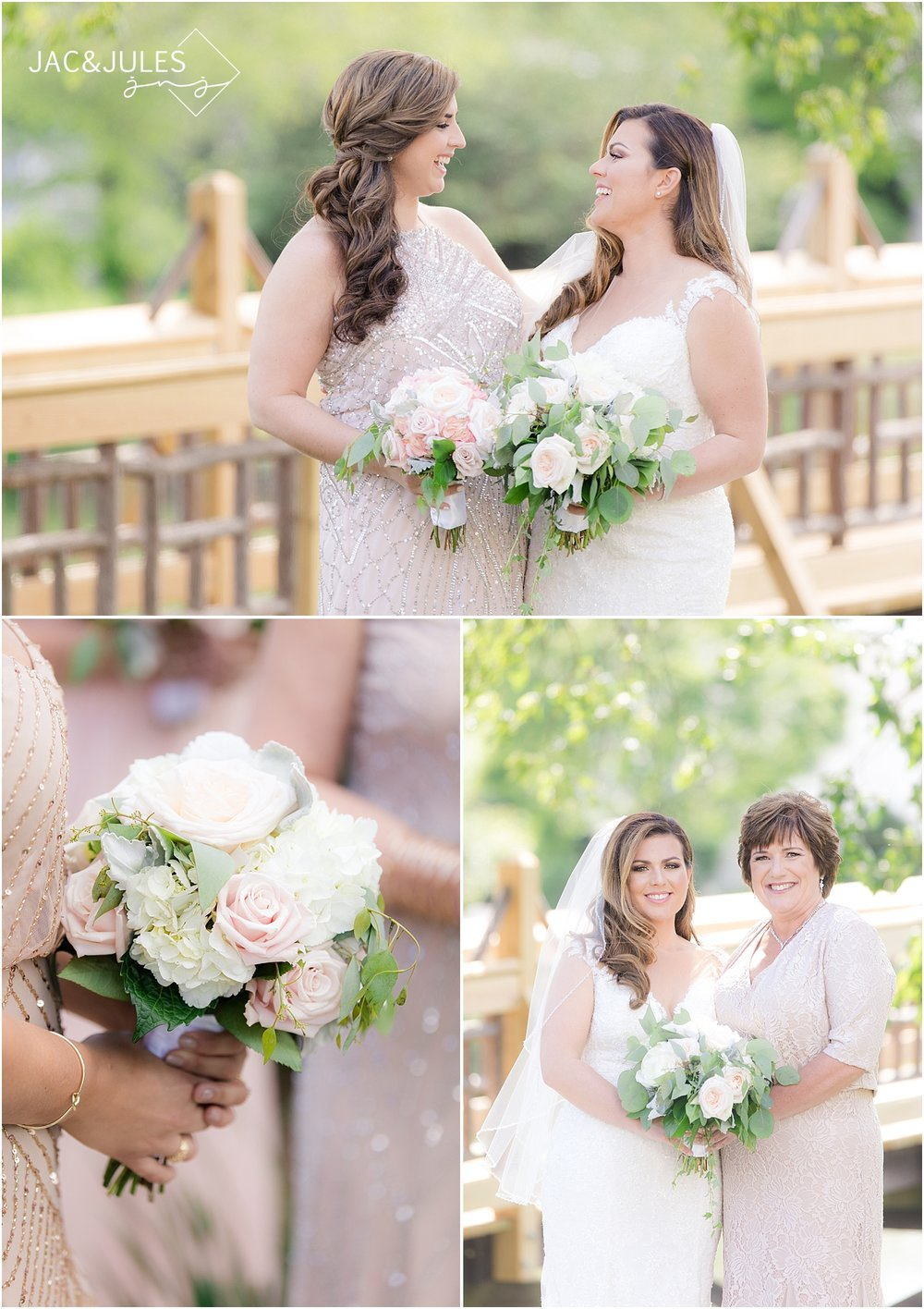 mother and bride photos at divine park in spring lake nj