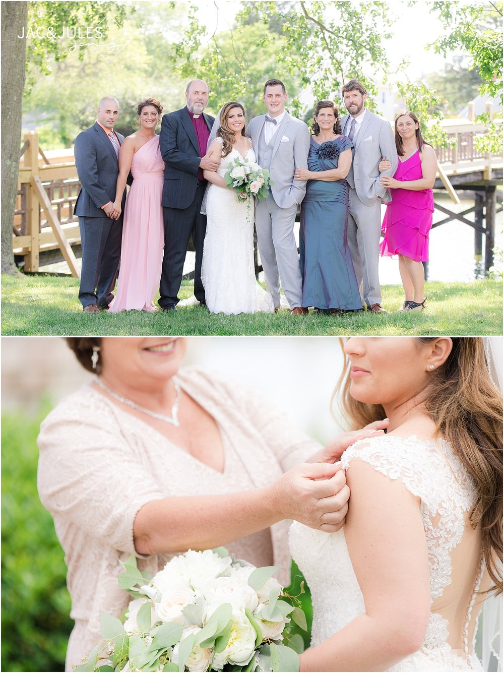 formal family wedding photo in spring lake nj
