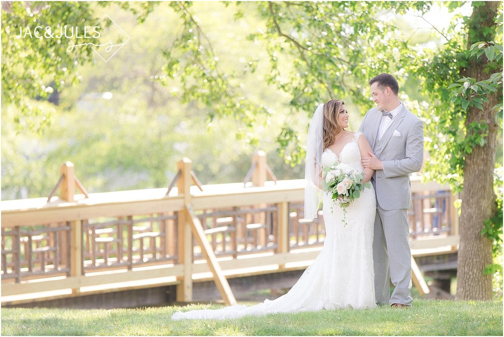 wedding photo of bride and groom in spring lake nj