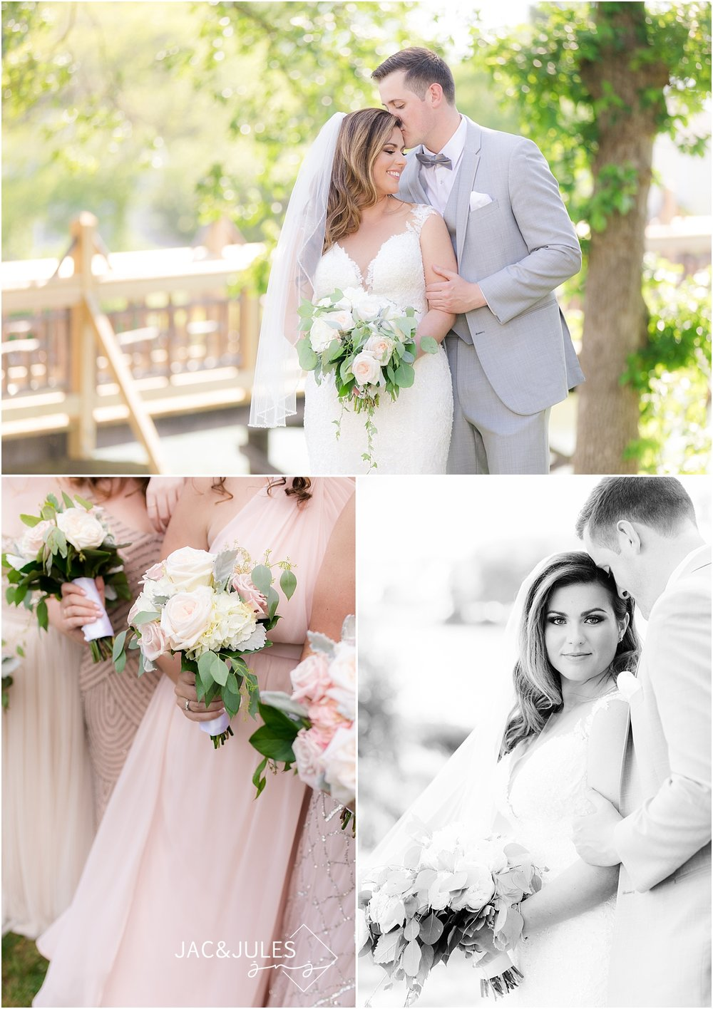 natural light wedding photos at divine park in spring lake nj