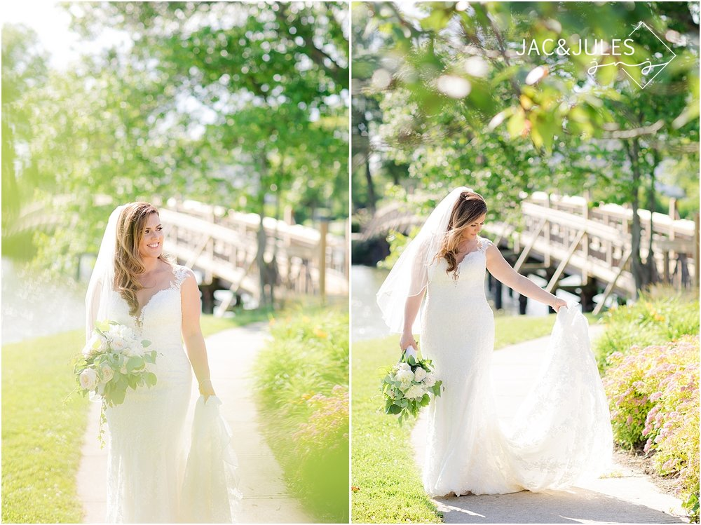 natural light photos of a bride in spring lake nj for her wedding
