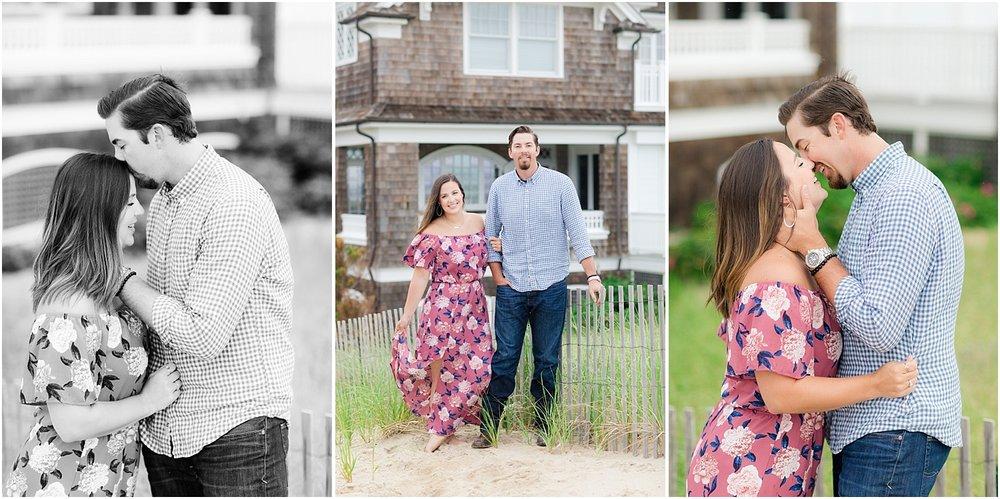 romantic engagement photos in mantaloking nj