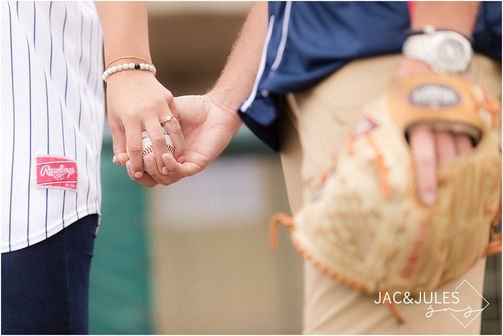 baseball themed engagement pictures in nj