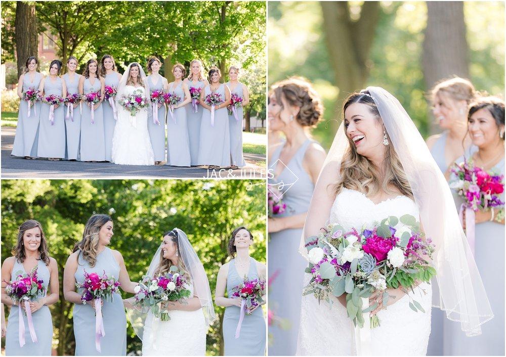 Bridesmaids photos at Kirkpatrick Chapel on Rutgers New Brunswick Campus.