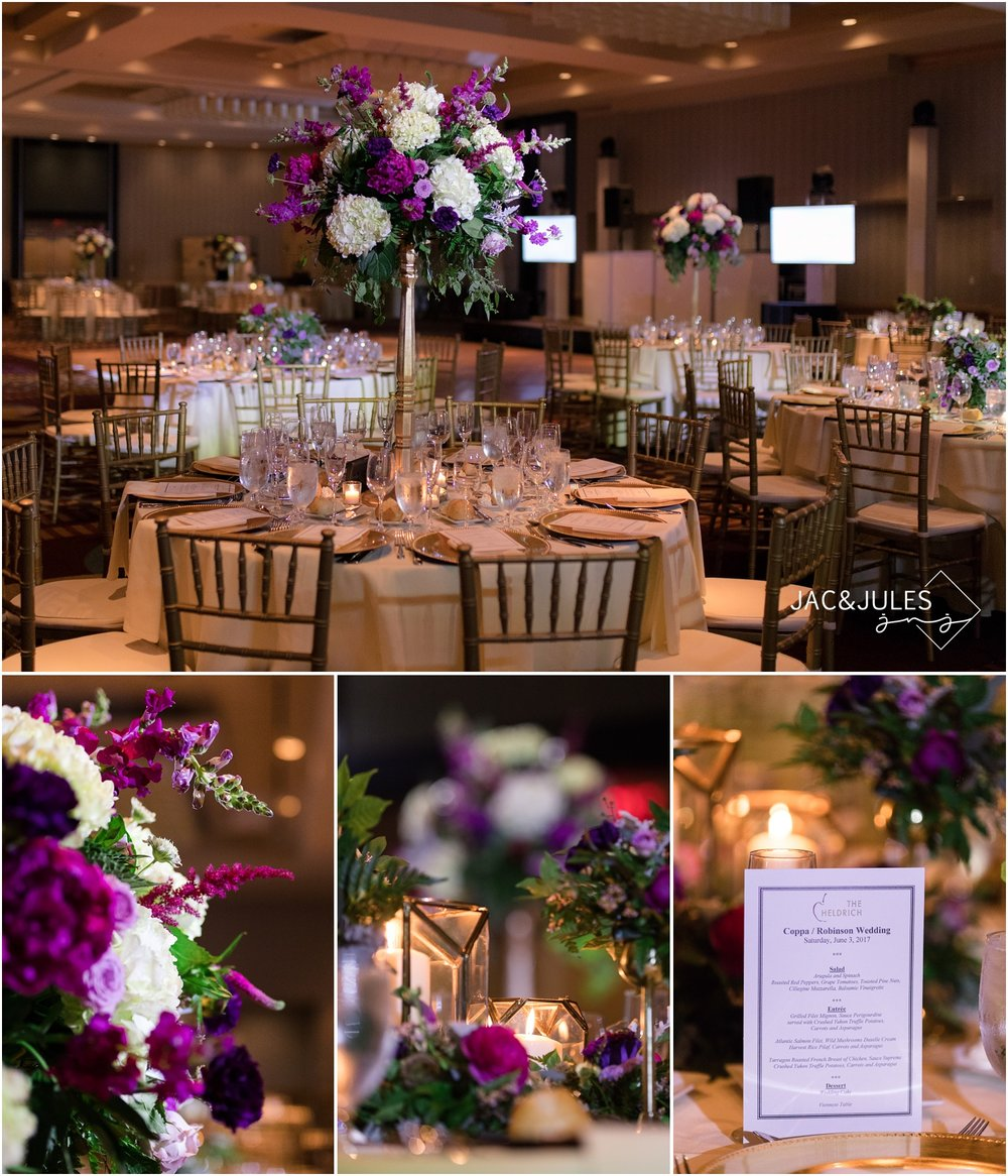 Reception room decor at The Heldrich by Bloomers in Allentown, NJ.