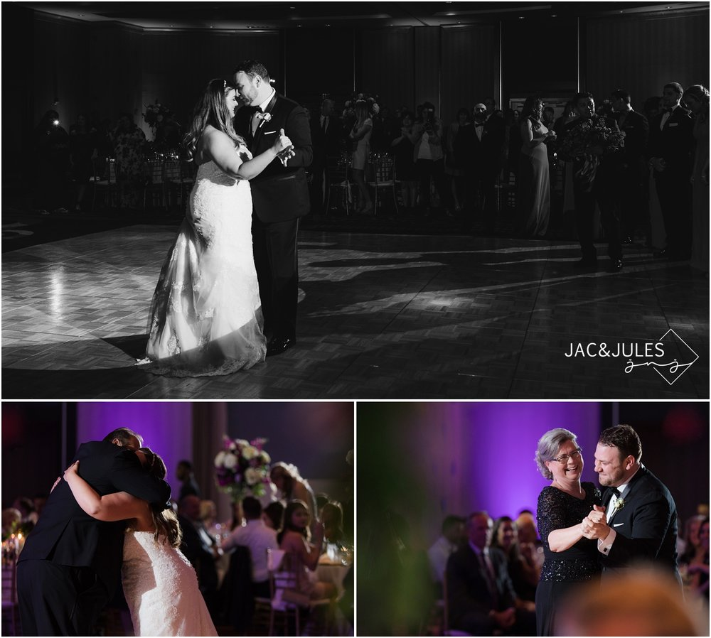 Bride and groom first dance and parent dances during wedding reception at The Heldrich in New Brunswick, NJ.