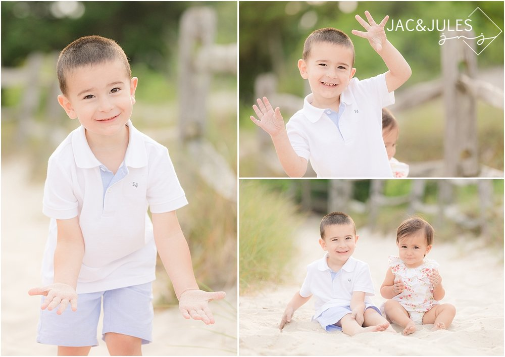 fun photos of boy on the beach in seaside nj