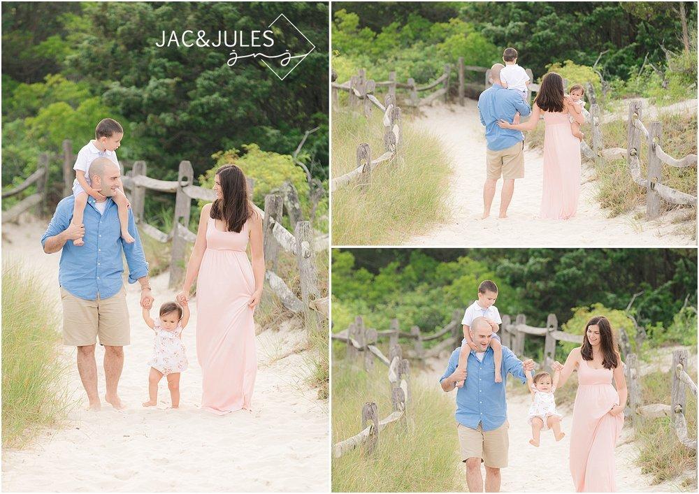 nj beach family photo in seaside nj