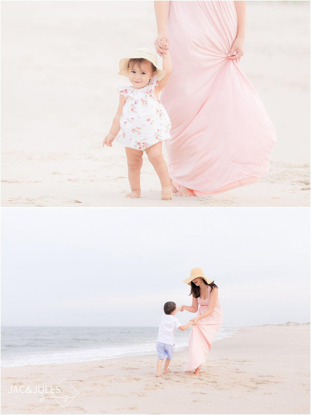 natural light family photographer at the jersey shore