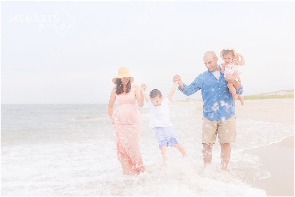 fun nj family beach photo