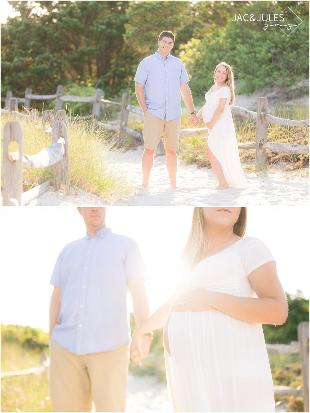 island beach state park maternity photo