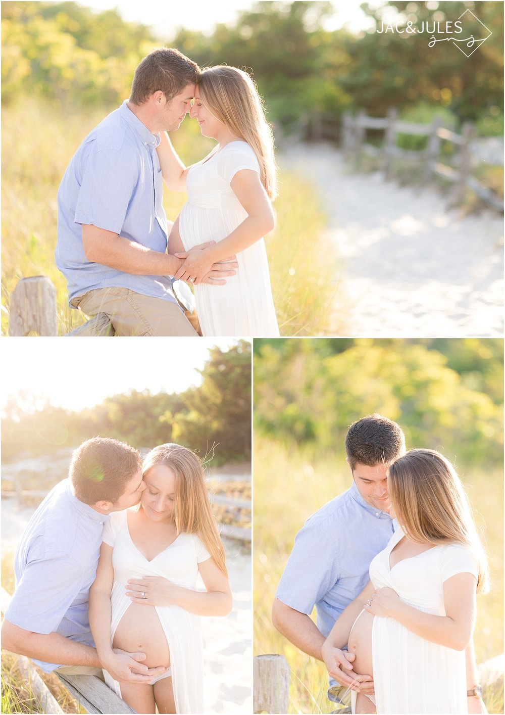 romantic maternity photos at the jersey shore