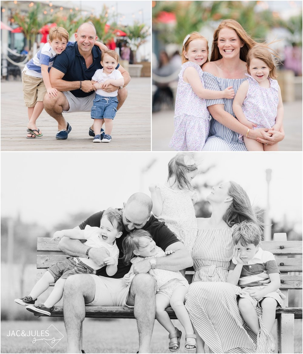 family photos on the Asbury Park boardwalk.