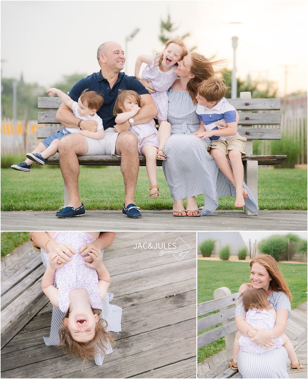 fun family photos on the Asbury Park boardwalk.