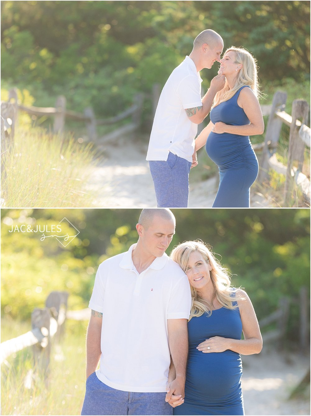 romantic maternity picture in seaside park