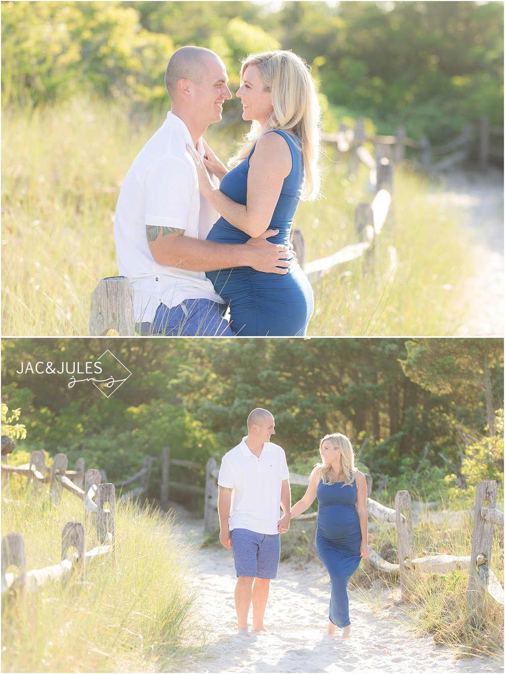 maternity photo in island beach state park nj