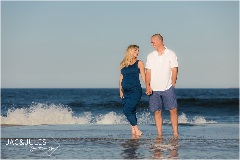 fun maternity photos by the ocean in seaside nj