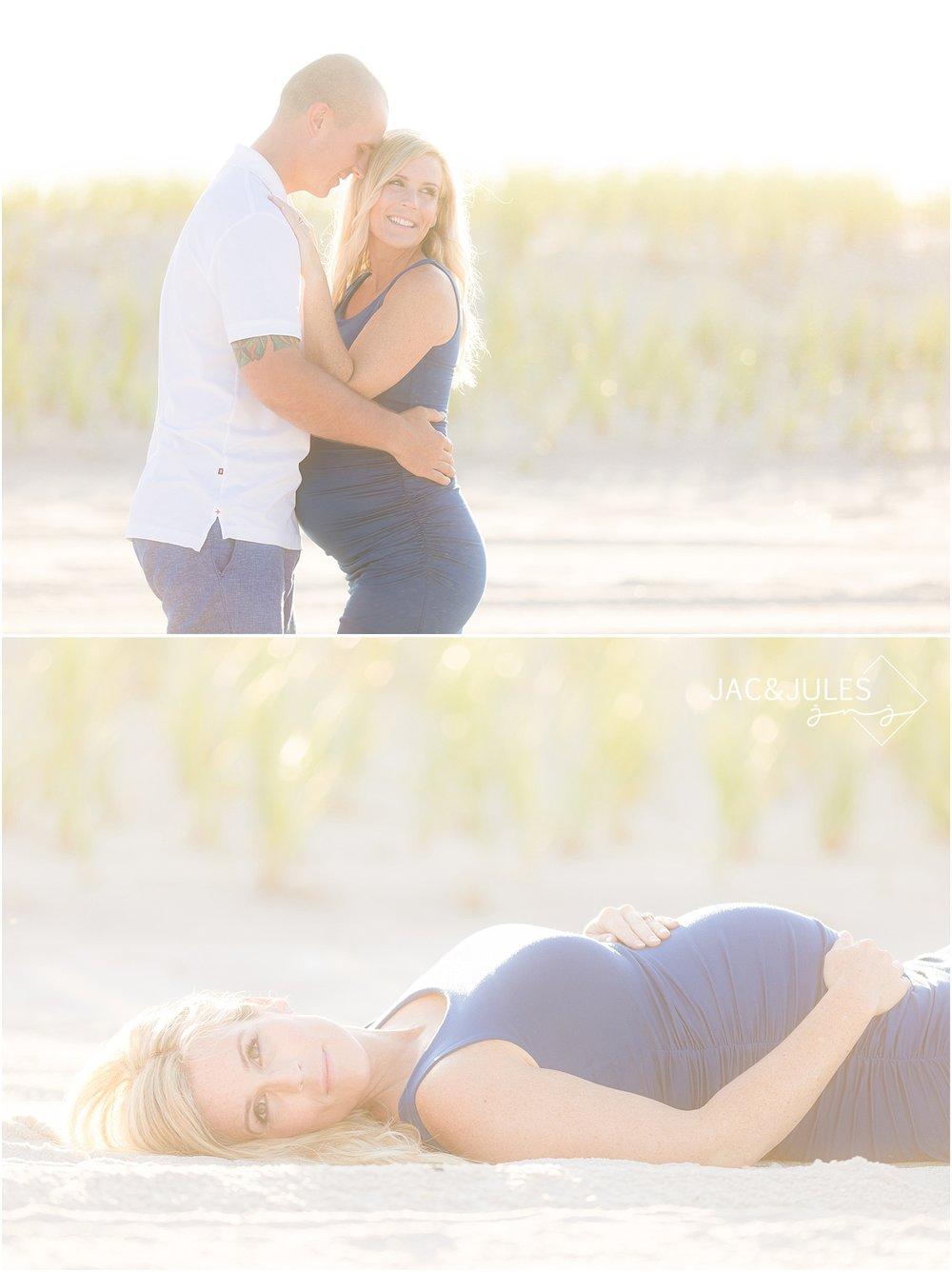 natural light beach maternity photo